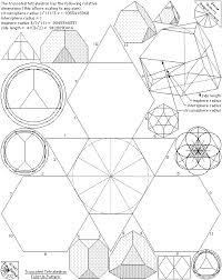 Truncated Solids Chart Archimedean Solids Fold Up Patterns The Geometry Code
