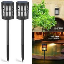 Amazon Com Dyey Solar Torch Lights 96 Led Solar Flame