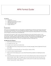 Apa Format Summary Example Executive Summary American