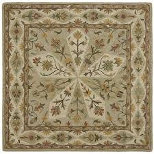 10 square sage green area rug tara