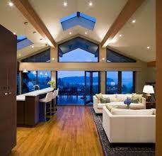vaulted ceiling lighting ideas contemporary living room skylights recessed lighting