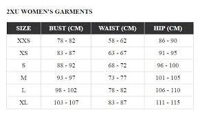 2xu Tri Shorts Size Chart Active Gearup 2xu Compression Trisuit Womens