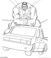 Get This Marvel Coloring Pages Hulk jwam6 !
