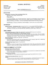 Resumes Templates For College Students Inspiration Academic Curriculum Vitae Example Creative Ideas Resume Examples