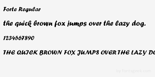 Forte Fonts Free Download Forte Regular Download For Free View Sample Text Rating And More