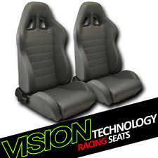 jdm sp style gray pvc leather reclinable racing bucket seats wsliders pair v04 fits bmw z3 bmw z3 office chair seat
