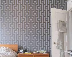 wall stencil modern pattern