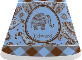 gingham elephants chandelier lamp shade personalized