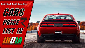 View the 2021 dodge cars lineup, including detailed dodge prices, professional dodge car reviews, and complete 2021 dodge car specifications. Dodge Cars Price In India 2018 Youtube
