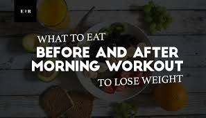 after morning workout to lose weight