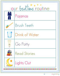Bedtime Routine Chart Dress Up Your Daily Routines Chore Chart Kids Bedtime
