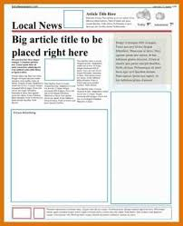news article format newspaper article format modern bio resumes