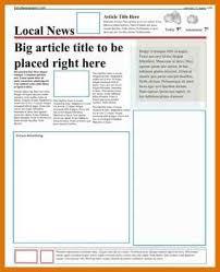 news article format newspaper article format modern bio resumes