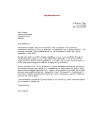 Sample Of Cover Letters For Resumes What Is In A Cover Letter For A