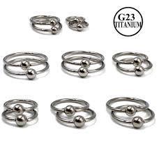 <b>1PC G23</b> Solid <b>Titanium</b> Captive Bead Ring With Opal Stone Opal ...