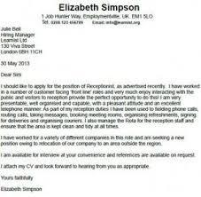 Receptionist Cover Letter Example Job Pinterest Cover Letter