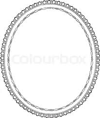 oval frame design. Oval Frame Is A Simple Design, It Empty In Center Vintage Line  Drawing Or Engraving Illustration.   Stock Vector Colourbox Oval Frame Design