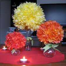 tissue paper flower centerpiece ideas cheap diy party centerpieces paper flower centerpieces tissue