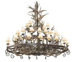 rustic coues antler wrought iron chandelier 36 light reclaimed with decor 15