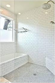 white hexagon tile bathroom inspirational transitional corner bench seat glass elongated hex corn