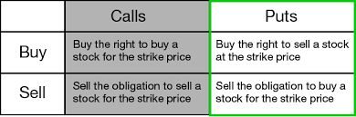 Call Put Option Charts 10 Basic Options Trading Facts Buying And Selling Options
