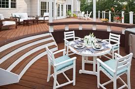 trex outdoor furniture monterey bay round 48 dining table by trex outdoor furniture