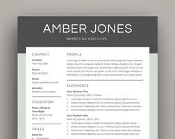 Resume Cover Letter Etsy Nz