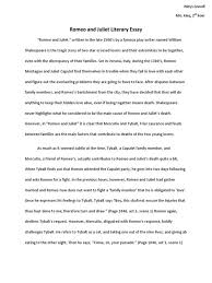 literary essay format analysis paper thebridgesummit mentor texts  romeo and juliet literary essay characters in example 5th grade 1513971 literary essay essay medium