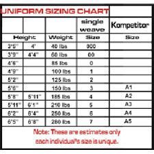 Judo Suit Size Chart Bebodysmart Com M M A Wear