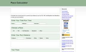 Pace Calculator Com Website Pace Calculator Calculate