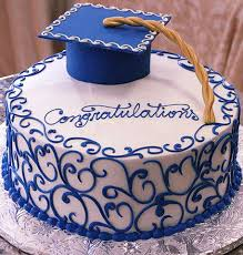 Blue Cap Graduation Cake Best Graduation Cakes Ideas
