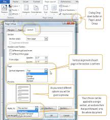 vertical justification alignment of text in microsoft word