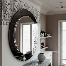 unique black wall mirror
