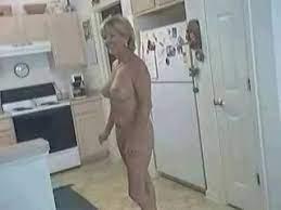 Mom naked at kichen