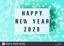 New Light Box Glowing Light Box With The Inscription Happy New Year 2020