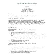 Supermarket Cashier Resume Classy Cashier Example Resume Penzapoisk