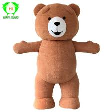 Adult Teddy Bear <b>Mascot Costume Cartoon Character</b> Costumes ...