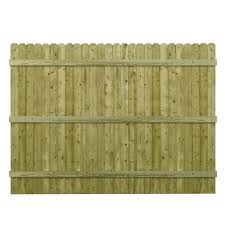 fence panels.  Fence Barrette 6 Ft H X 8 W PressureTreated 4 In Intended Fence Panels A