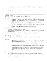 Java Developer Responsibilities Sample Java Developer Resume Free