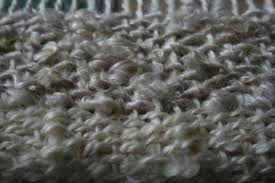 rug yarn for weaving. weaving mohair: halfway through a rug yarn for
