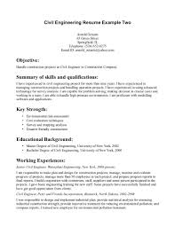 Catchy Civil Engineer Resume Template For Job Applications Expozzer