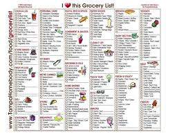 Free Printable Blank Grocery List Grocery List Free Printable Template 2402311024887 Grocery