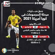 مواعيد مباريات اليوم الأحد 20-6-2021 والقنوات الناقلة - اليوم السابع