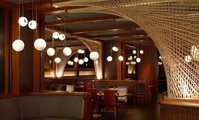 Main Dining Room Interior Design of Forty Four Restaurant at Royalton Hotel,  Manhattan NYC