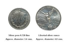 Silver Coin Weight Chart The Silver Peso 0 720 Fine And The Libertad Ounce Compared