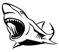 Vicious Outline Shark Tattoo Design Tattooimages Biz