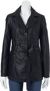 women s fashion outerwear trenchcoats black leather trenchcoats sebby faux leather trench coat