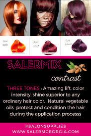 Salerm Semi Permanent Hair Color Chart Salermix Contrast By Salerm Cosmetics 3 Tones With Amazing