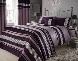 aubergine purple colour stylish lace diamante duvet cover luxury beautiful bedding