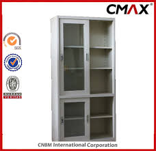china steel cabinet filing cabinet metal cupboard slipping glass door office cabinet cmax fc04 005 china steel filing cabinets metal containers